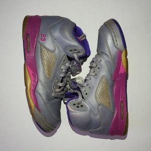 Air Jordan Retro GS Cement Grey Pink
